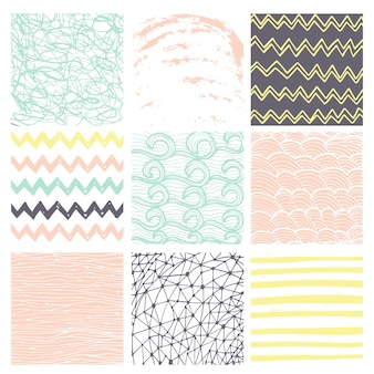 Ink hand drawn textures. can be used for wallpaper, background of web page, scrapbook, party decoration, t-shirt design, card, print, poster, invitation, packaging and so on.