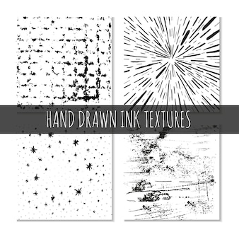 Ink hand drawn textures can be uses for wallpaper background tshirt designs cards prints