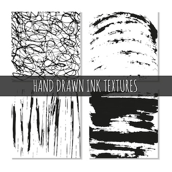 Ink hand drawn textures. can be uses for wallpaper, background of web page, scrapbooking, party decorations, t-shirt designs, cards, prints, postcards, posters, invitations, packaging and so on.