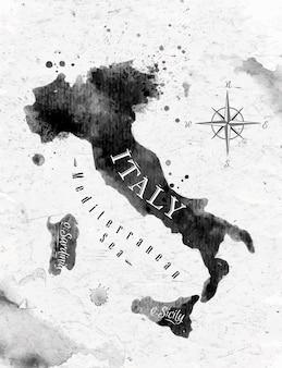 Чернила италия карта
