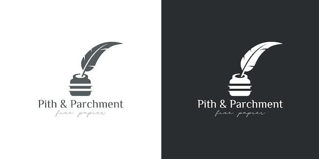 Ink logo and quill pen