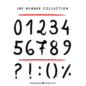 Ink number collection