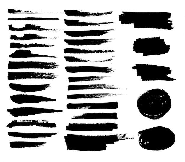 Чернила брызги трафарет. высокое качество отслеживается вручную. черные чернила брызги грязи пятно брызги брызги брызги с каплями помарок изолированы