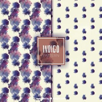 水彩inkblotsパターン