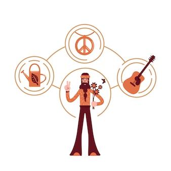 Innocent archetype flat concept   illustration