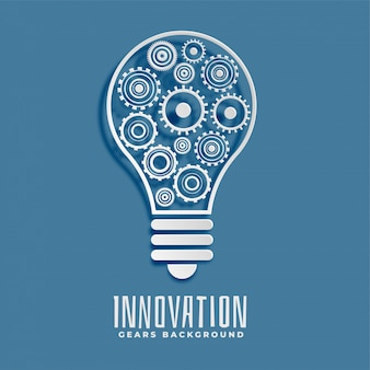 Innovation and idea bub and gears background