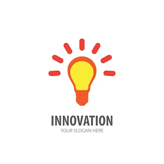 Innovation logo for business company. simple innovation logotype idea design. corporate identity concept. creative innovation icon from accessories collection.
