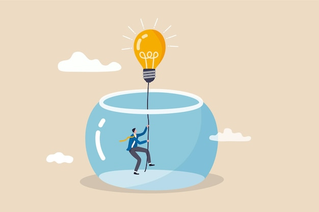 Innovation to solve business problem idea and creativity to achieve success