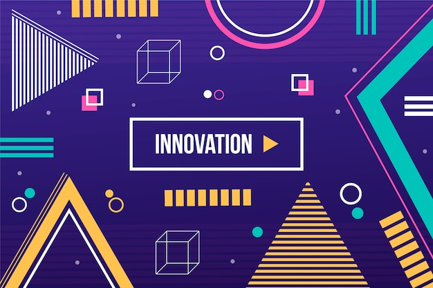 Innovation template with geometric shapes background
