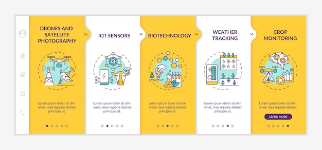 Innovative agriculture technology onboarding template