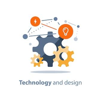 革新的な技術イラスト