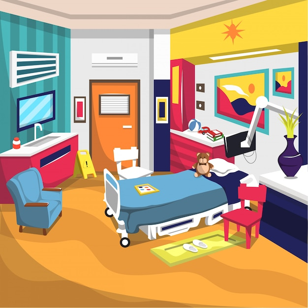 Inpatient rehab room for kids hospital