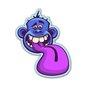 Insane monkey sticker