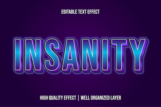 Модифицированные современные шрифтовые эффекты шрифта insanity