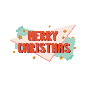 The inscription merry christmas in retro sryle