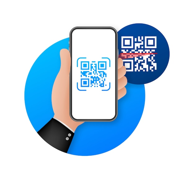 Inscription scan me with smartphone icon