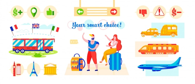 Inscription you smart choice! vector illustration.