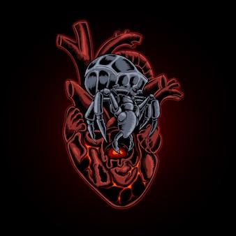 昆虫の心臓のイラスト