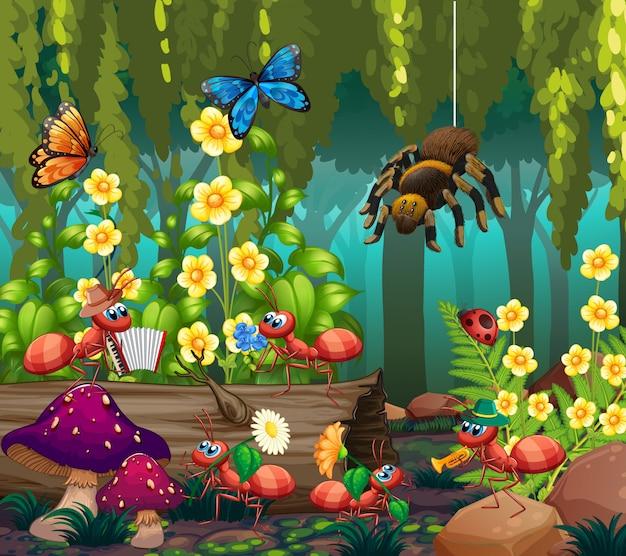 요정 숲에서 곤충