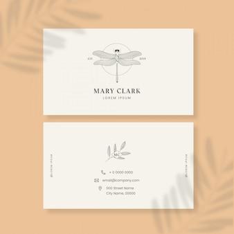 Визитная карточка с логотипом насекомого