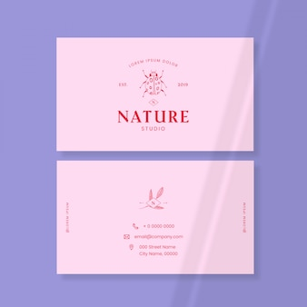 Insect logo business card