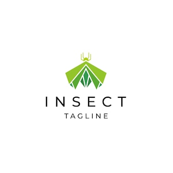 곤충 로고 아이콘 디자인 서식 파일 평면 벡터