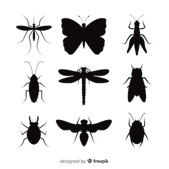 Insect silhouette pack