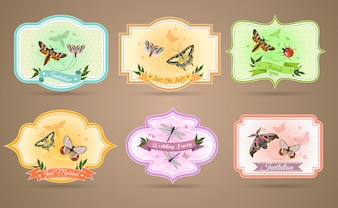 Insects Emblems Set