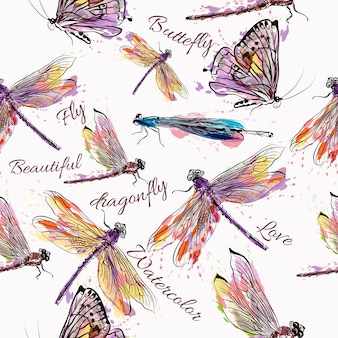 Insects pattern design