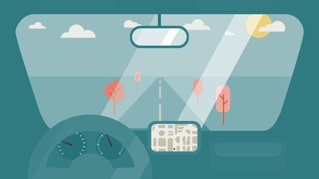 Inside car interior