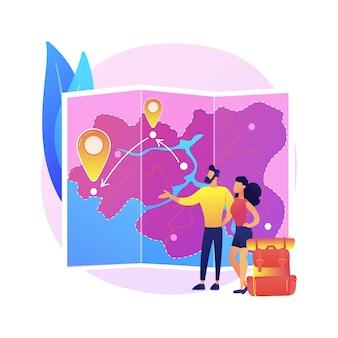 Иллюстрация путешествия по стране