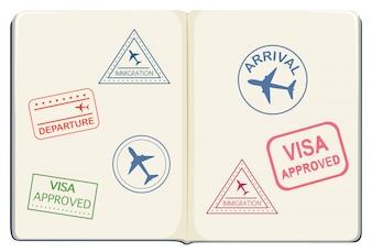 Inside of a passport