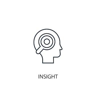 통찰력 개념 라인 아이콘입니다. 간단한 요소 그림입니다. 통찰력 개념 개요 기호 디자인입니다. 웹 및 모바일 ui/ux에 사용할 수 있습니다.