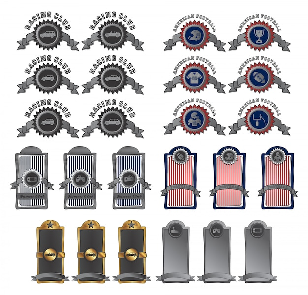 Insignia theme vector graphic art design illustration