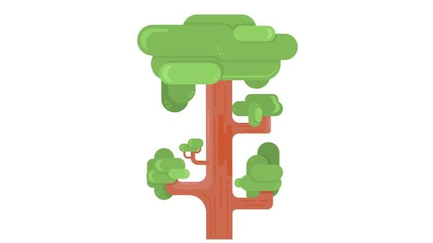 大きな木insolatedベクトル図