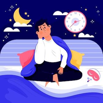 不眠症の概念図解