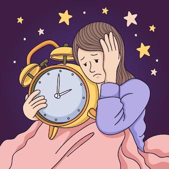不眠症の概念図