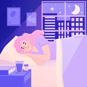 Insomnia concept illustration