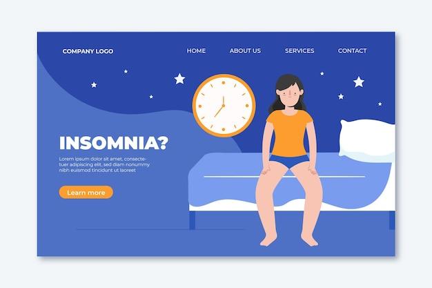 不眠症のランディングページのコンセプト