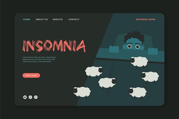 Design della pagina di destinazione dell'insonnia