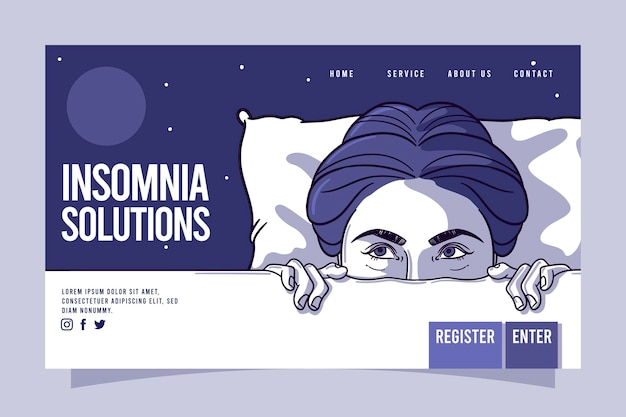Insomnia landing page template