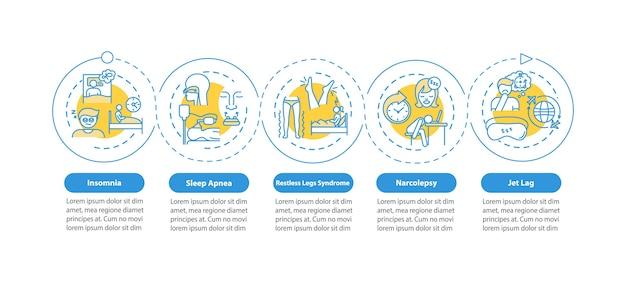 Шаблон инфографики для инсомнии