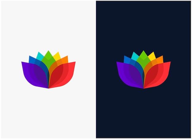 영감 꽃 꽃 로고 디자인 영감 1