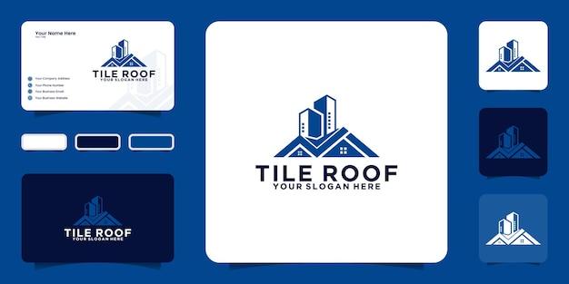 주택 부동산 디자인 로고 및 명함에 대한 영감