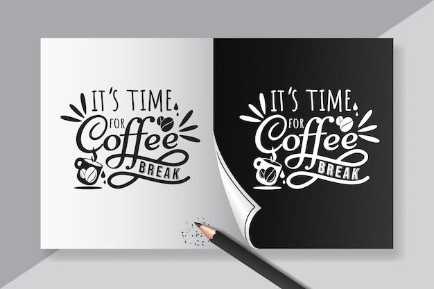 Цитата вдохновляющей надписи о винтажном кофе для плаката кафе