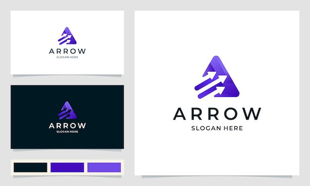 Inspiration logo design for startup agency with arrow concept