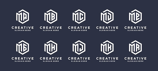 Inspiration m letter logo design combine with etc.