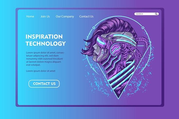 Inspiration technology landing page
