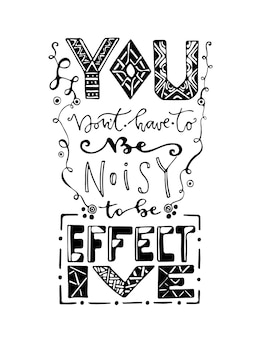 Inspirational and motivational handwritten lettering