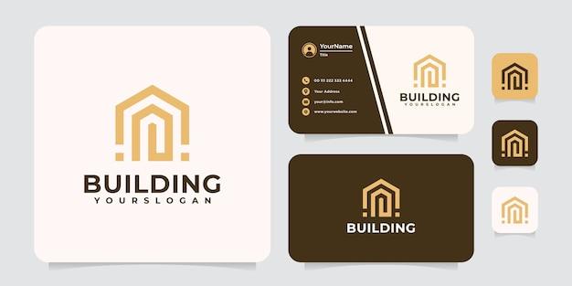 영감을주는 건물 로고.